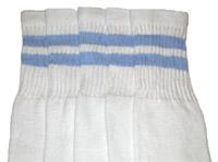 Baby Blue striped tube socks