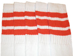 Orange striped tube socks